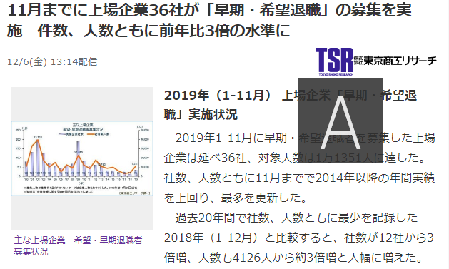 東京商工リサーチ記事